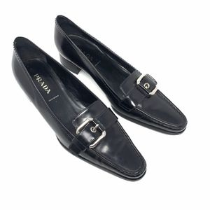 PRADA Women's Black Loafer Slip-on Shoes